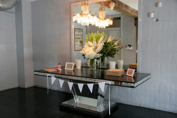 BFD Wedding Entrance and Guest Book Table