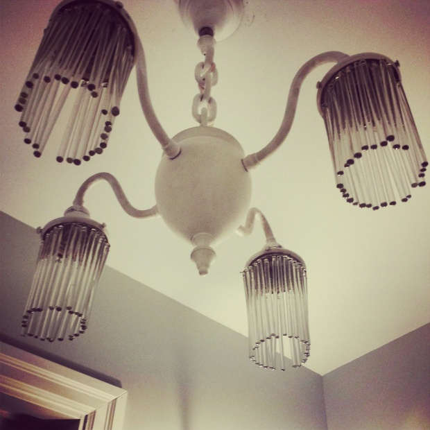 Vintage Chandelier from a 19th Century Pharmacy in Guelph