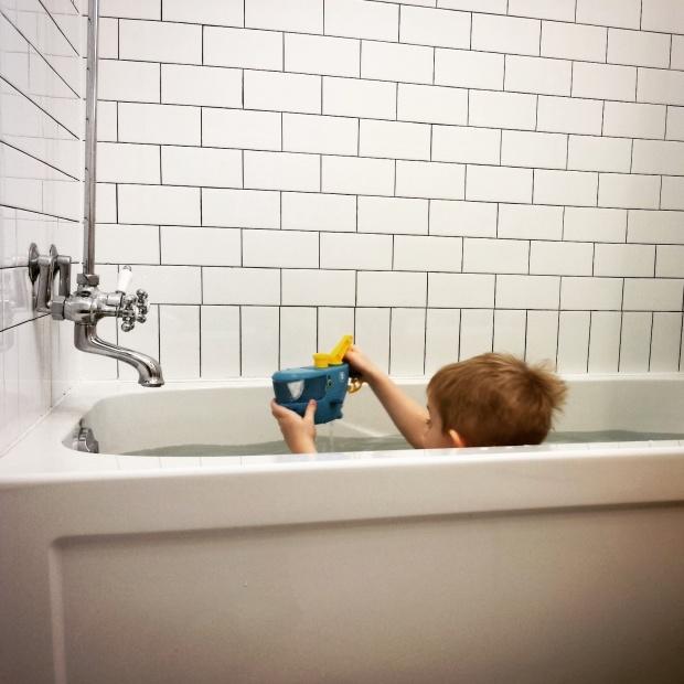 Rub a dub in the tub!