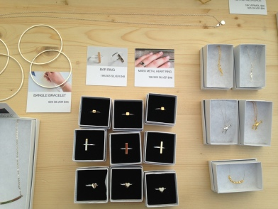 Gorgeous handmade silver and gold jewellery