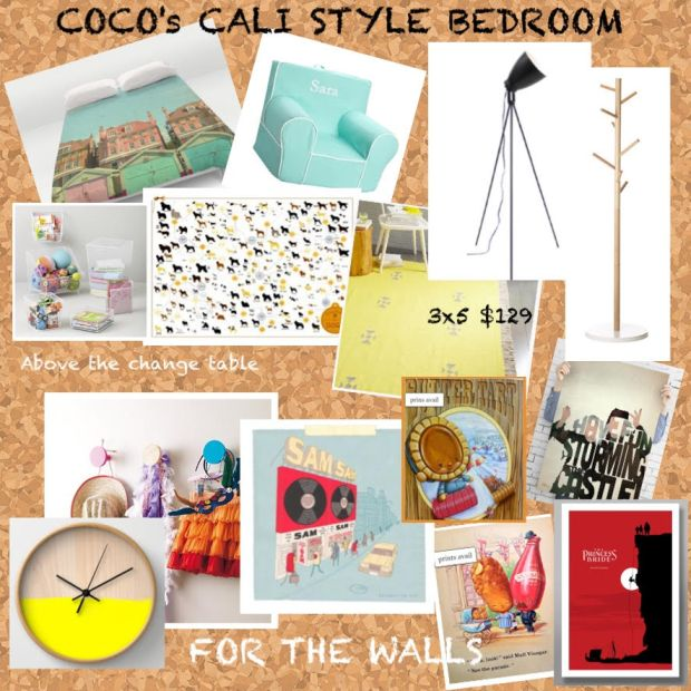 cocos bedroom inspiration board