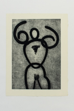 w - Robert Achtemichuk; Etching, 1982 $800.00