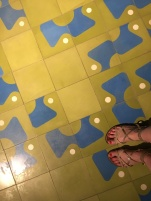 El floor with El's feet (this is why we get to do the whole El thing... #becausedoublemeaning)