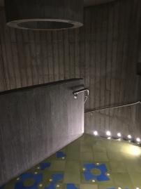 El concrete entrance stairs and kick ass tile