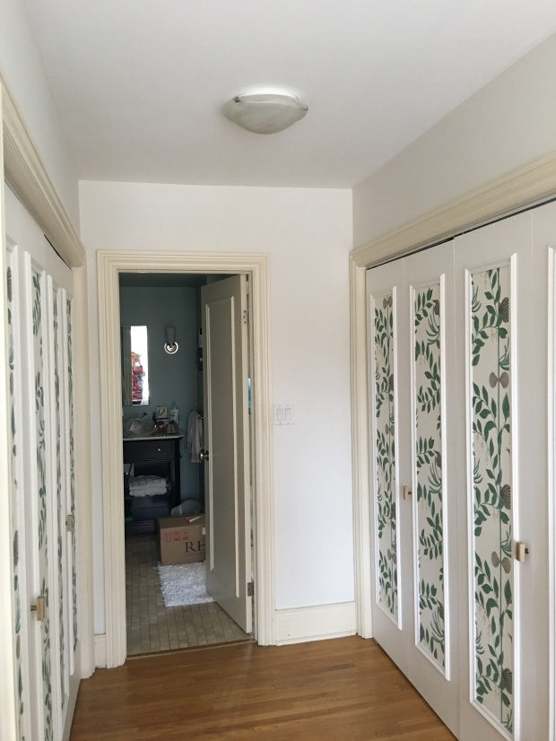 Closet hallway from the bedroom to the bathroom