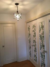 Closet hallway 2.0 with bathroom door shut