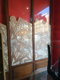 These are original Art Deco glass panels, 3 for $500. This is where the Shut Up! Starts to really kick in...