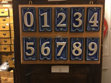 French inspired house numbers $9.99 each!