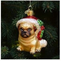 Holly Hat Pug Ornament by Old World Christmas CA$13.95 from OuterLayer.com (Queen West and Portland, Toronto)