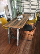 Trestle table at dining height