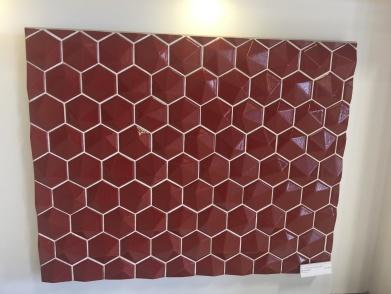 shiny. red. wall.