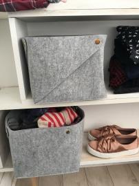 Stylish felt grey storage magic