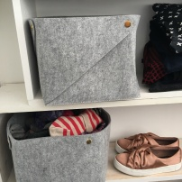 Stylish felt grey storage magic
