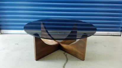 MCM Glass Coffee Table $150