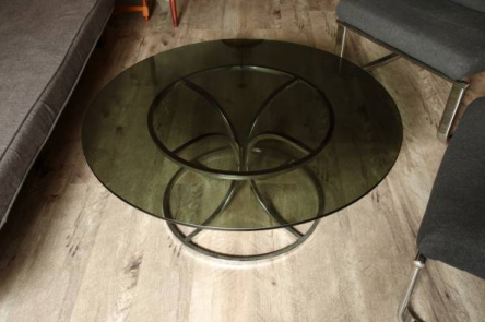 Smoked Glass Coffee Table $200